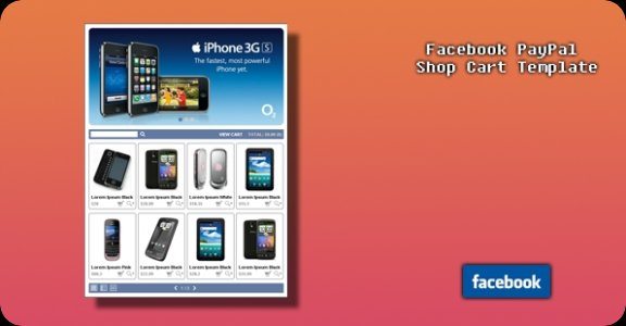 Facebook PayPal Shop Cart Template